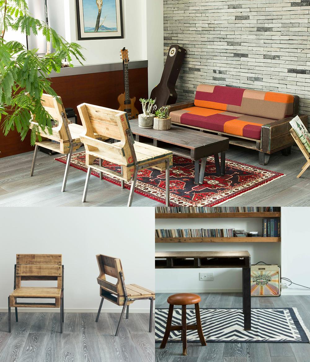 間伐材の家具